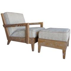 "Christopher Anthony Ltd. ""Las Palmas"" Chair and Ottoman"