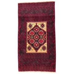 Vintage Traditional Belutch Afghan Rug