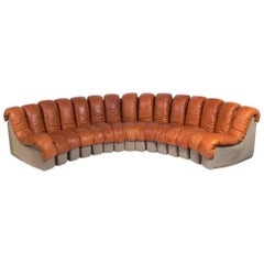 "De Sede ""Non-Stop"" Leather Sectional Sofa"