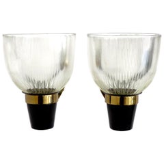 Ignazio Gardella Pair of Italian Sconces Model LP5 for Azucena