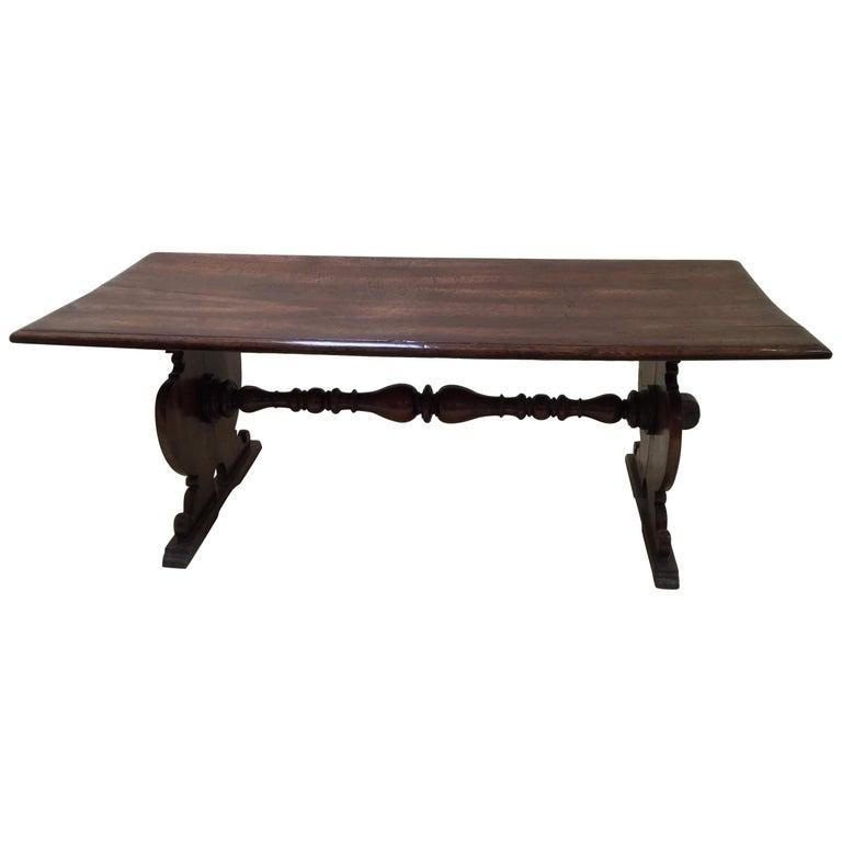 18th Century Italian Walnut Refectory Table