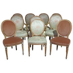 Set of Ten Karges Louis XVI Style Dining Chairs