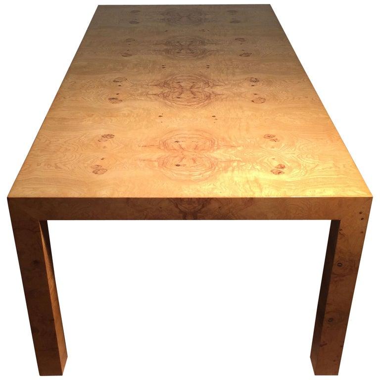 Milo Baughman Burl Dining Table for Thayer Coggin