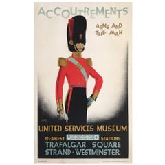 Original Vintage French Poster, Accoutrements United Service Museum, 1928