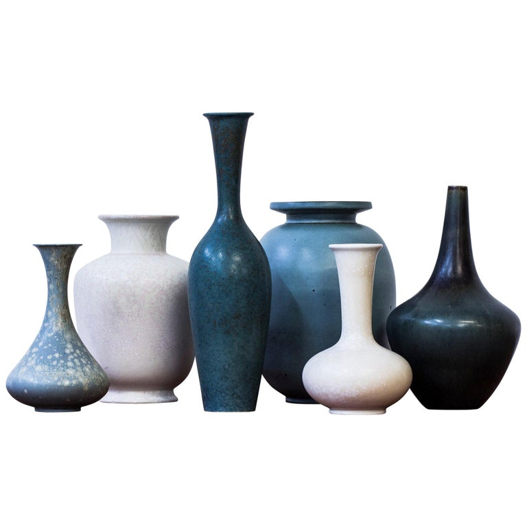Collection of Vases by Gunnar Nylund for Rörstrand, Sweden, 1950s