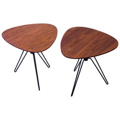 Pair of Side Tables by Hans Agne Jakobsson, Sweden, 1950s