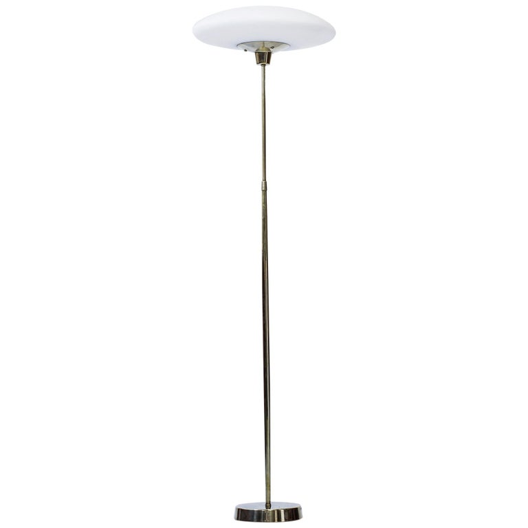 Swedish Floor Lamp in Brass by ASEA Belysning, 1950s