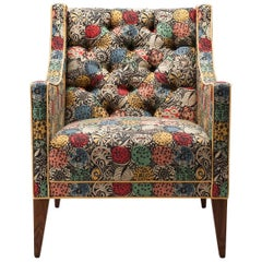 Contemporary Sartor Chair in Liberty September Roslynd with Walnut Legs