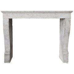 Sober and Antique Fireplace of the 19th Century, Campagnarde Style