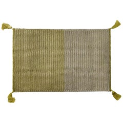 Two-Tone Handmade Crochet Cotton and Polyester Thick Luxurious Textile Rug