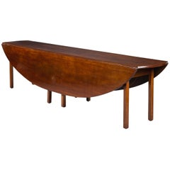18th Century Long Regency Mahogany Irish Hunt/Wake Table, circa 17401760