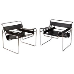 Marcel Breuer Wassily Chairs for Knoll, circa 1980