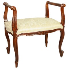 Small Louis XV Walnut Banquette or Window Seat