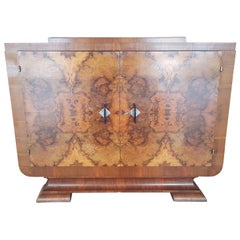 Small Art Deco Buffet or Sideboard Made of Walnut