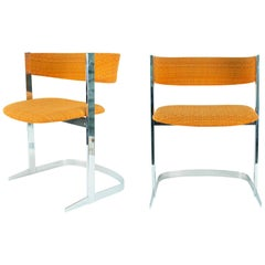 Fabulous Set of Six Dining Chairs, France, 1970s, in the Style of Willy Rizzo