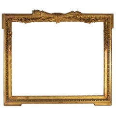 Fabulous  Giltwood and Stucco Louis XVI Style Frame, Mirror, France