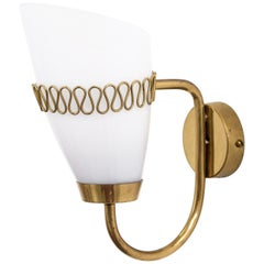 Mauri Almari Brass Sconce for Idman, 1950s
