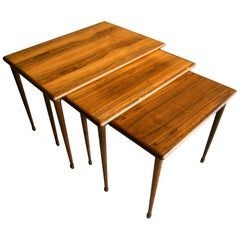 Trio of Norwegian Rosewood Stacking Tables