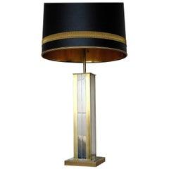 Gaetano Sciolari Brass and Chrome Table Lamp, 1960s