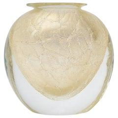 Gold Murano Glass Vase
