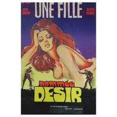 """Une Fille Nommee Desir"" Movie Film Poster by C Belinsk 1973 Cover Girl"