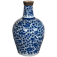 Blue and White Delft Bottle