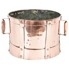 19th Century Copper Grain Measure with Two Handles