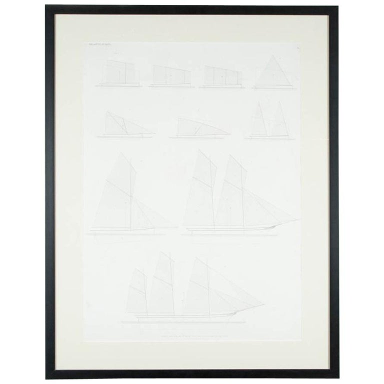 """""""Balance of Sail"""" Print by Day & Son, Lithographers to the Queen, Dated 1864"""