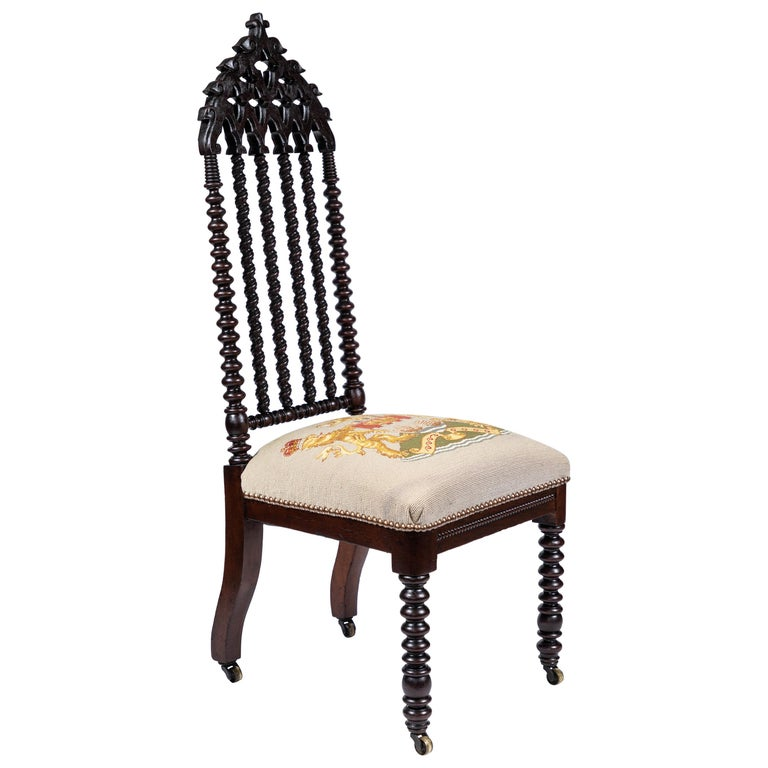 Antique 19th Century Gothic Revival Style Chair