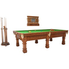 Billiard, Snooker, Pool Table Complete Set of Gothic Revival Form