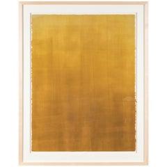 Deep Mustard Gradient Monoprint #40 by Anna Ullman