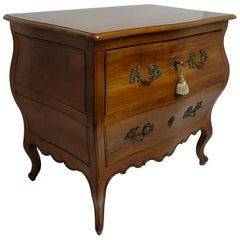 Rococo Bombe Two-Drawer Chest Commode French