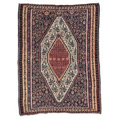 Vintage Persian Senneh Kilim Rug