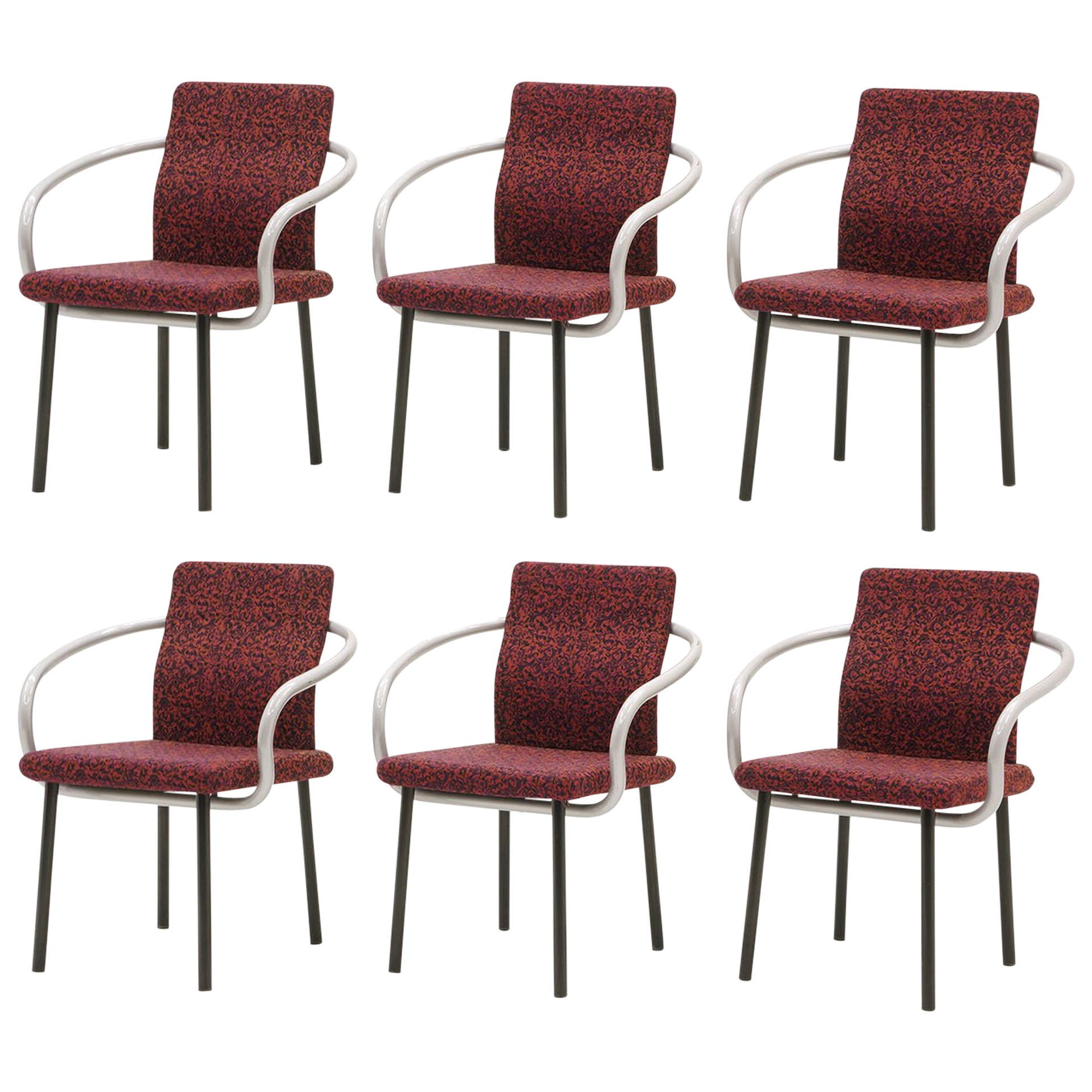 Set of Six Mandarin Dining Chairs by Ettore Sottsass for Knoll