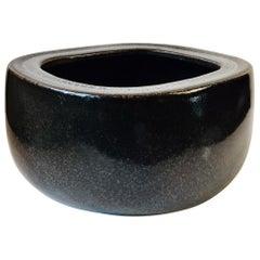 Danish Black Stoneware Bowl by Eva Stæhr Nielsen for Royal Copenhagen, 1970s