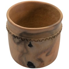 Mexican Rustic Natural Clay Folk Art Handmade Ceramic Pot Terracotta