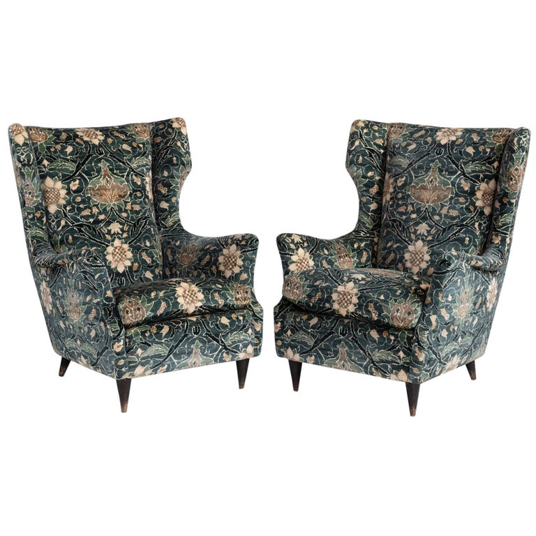 Modern Wingback Chairs, circa 1950 For Sale