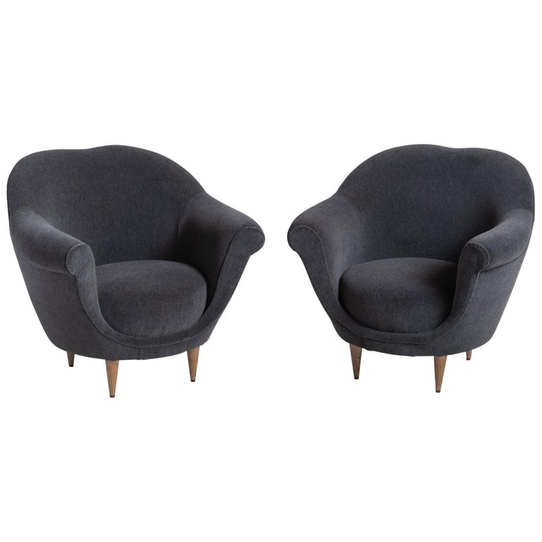 Modern Open Armchair, circa 1950 For Sale
