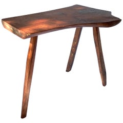 Organic Modern Slab Side Table in the Manner of Nakashima