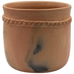 Mexican Rustic Natural Clay Folk Art Handmade Ceramic Pot Terracota