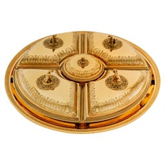 Puiforcat Empire Candy Box with Golden Finish by Martin Guillaume Biennais