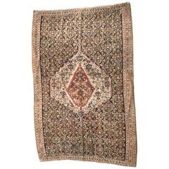 Antique Persian Senneh Kilim Rug