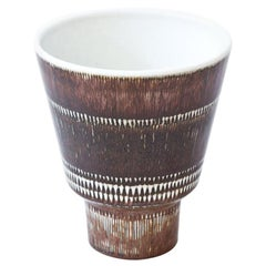 Midcentury Stoneware Vase by Hertha Bengtson for Rörstrand, 1950s