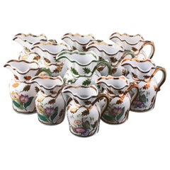 Collection of 11 Livesley Powell & Co. Ironstone Jugs