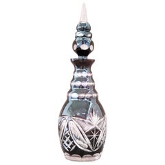 20th Century Art Deco Crystal Bottle, 1940s