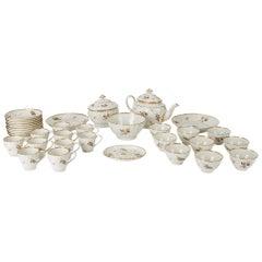 Antique Chamberlain Worcester Porcelain Tea Service, 18th Century