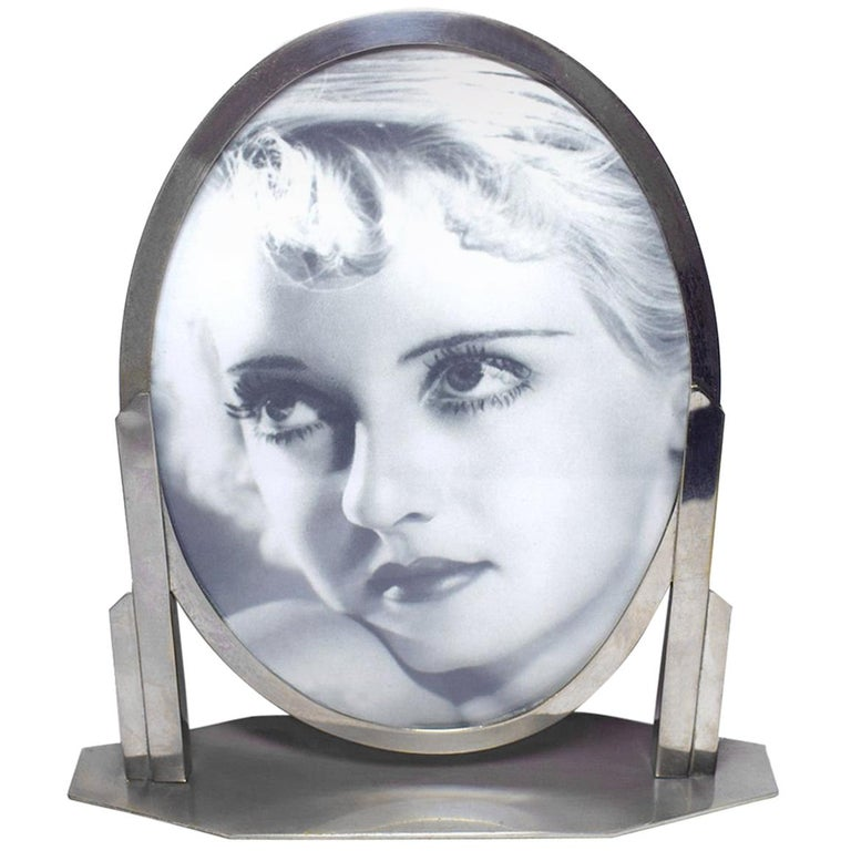 1930s Art Deco Chrome Picture Frame