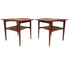 Pair of Tove and Edvard Kindt-Larsen Danish Teak End Tables, circa 1960s