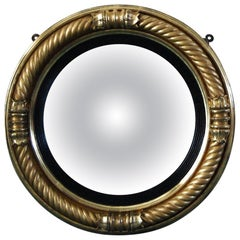 Regency Period Gilt Framed Convex Mirror