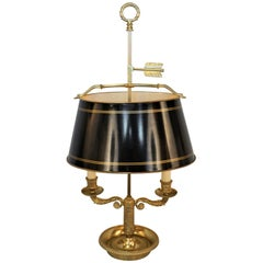 French Bronze Empire Style Bouillotte Desk or Table Lamp